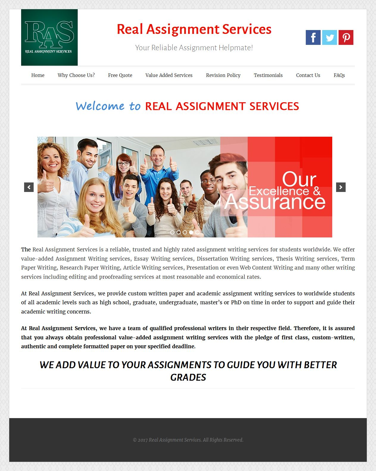 real assignment services inner page